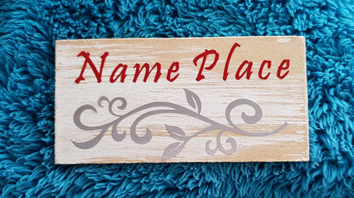 Wooden name place - Homely Scents