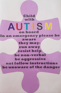 Autism car decal - Homely Scents