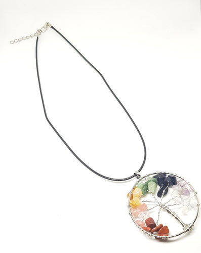 Chakra Tree of Life necklace - Homely Scents