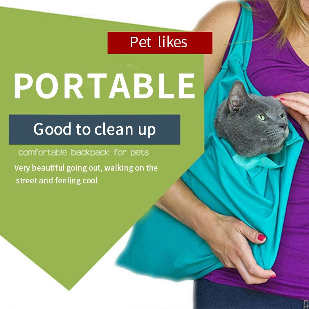 Foldable Multifunctional Pet Carrier Bag for Dogs and Cats
