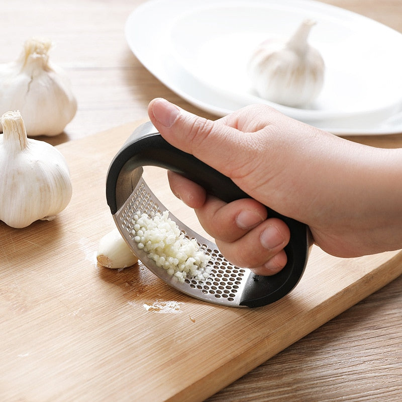 Stainless Steel Manual Garlic Chopper Mincer Press