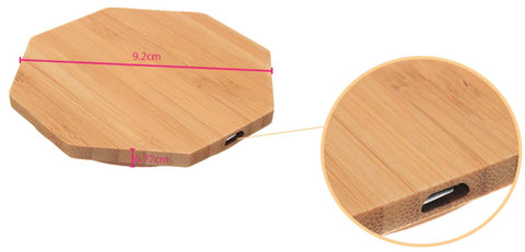 Wooden Wireless Charger For Samsung iPhone Pad Mat Sation For Qi