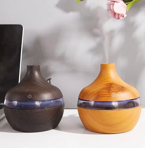 Ultrasonic Humidifier Wooden Small Cool Whole House Air Warm Baby Mist Room
