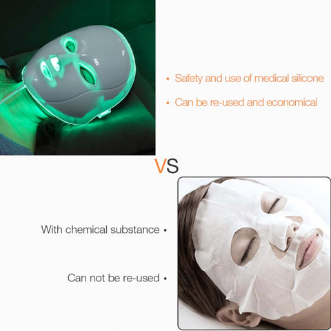 LED Light Therapy Mask Face Massage Acne Photon Therapy