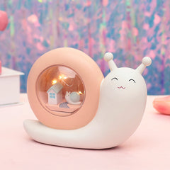 Cute Snail Piggy Bank Night Light