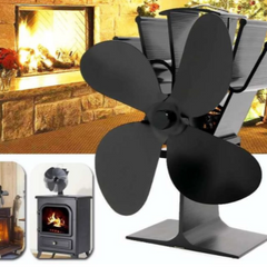 Silent thermodynamic fireplace fan