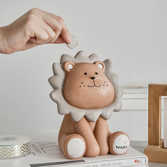 Cute Lion piggy bank