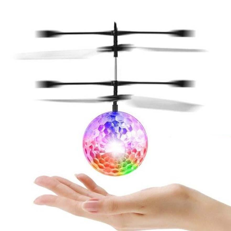 Flying Ball Infrared Sensing Induction LED Light Luminous Flying Ball Helicopter Toy