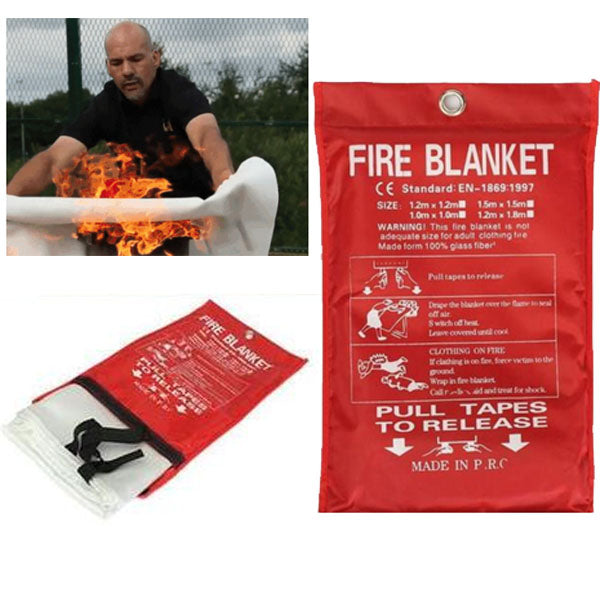 Fire Blanket Emergency Fireproof Resistant Retardant Home Extinguisher