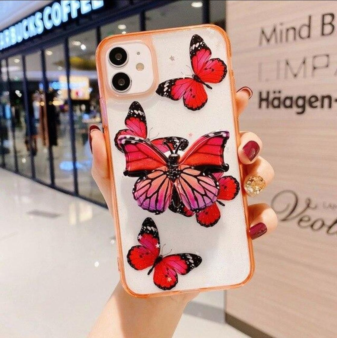 3D Butterfly Phone Case For iPhones
