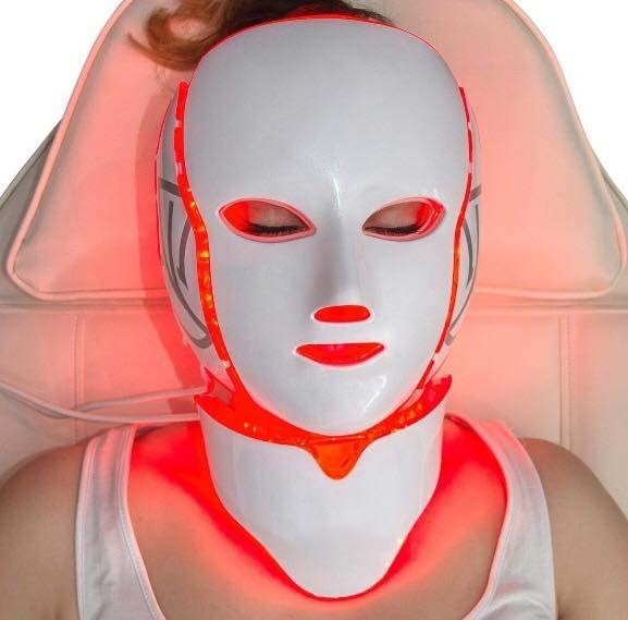 LED Light Therapy Face and Neck Mask
