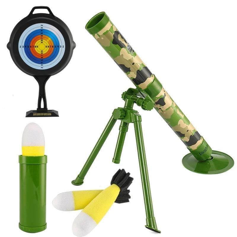 Mortar toy launcher Kids Gift Rocket shooting military model children