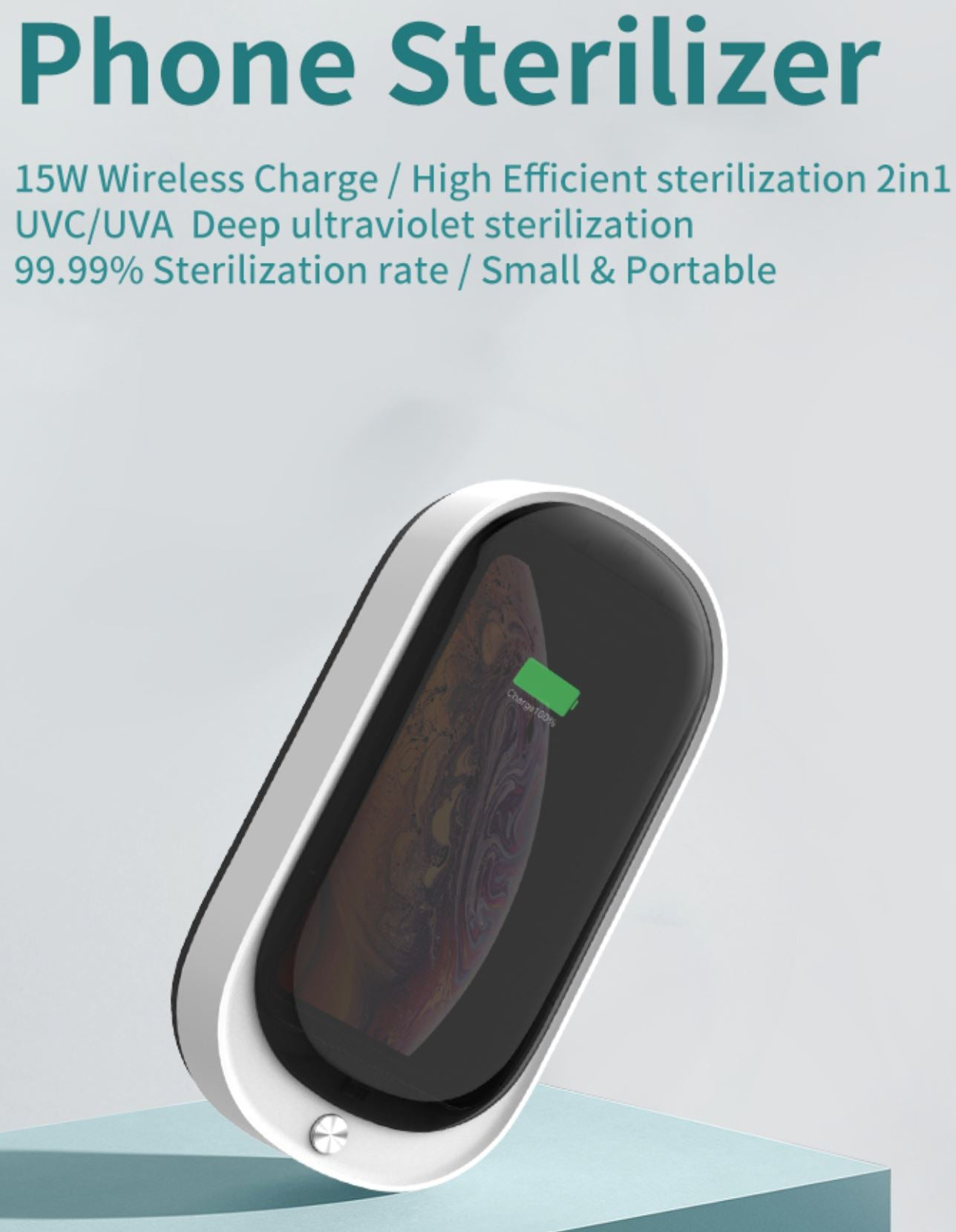 Mobile Phone UV Sterilizer & Wireless Charger