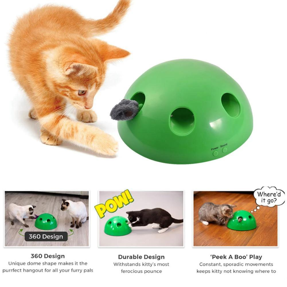 POP N PLAY Cat Toy Interactive Peek a boo Cat Pet Toy