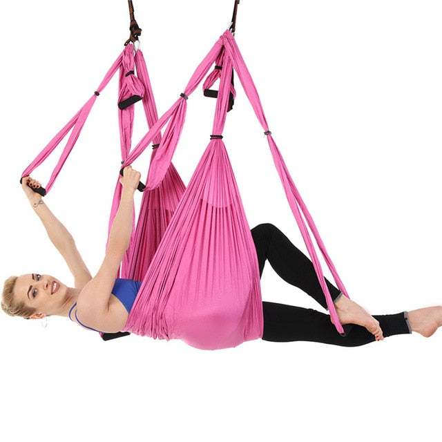 Aerial Yoga Hammock Yoga Flying Swing Anti-Gravity Inversion Trapeze for Pilates Body Shaping