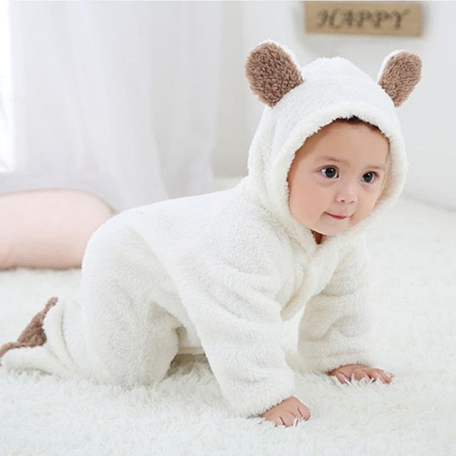 Baby Bear Romper Teddy Bear Onesie Suit Warm Infant Romper