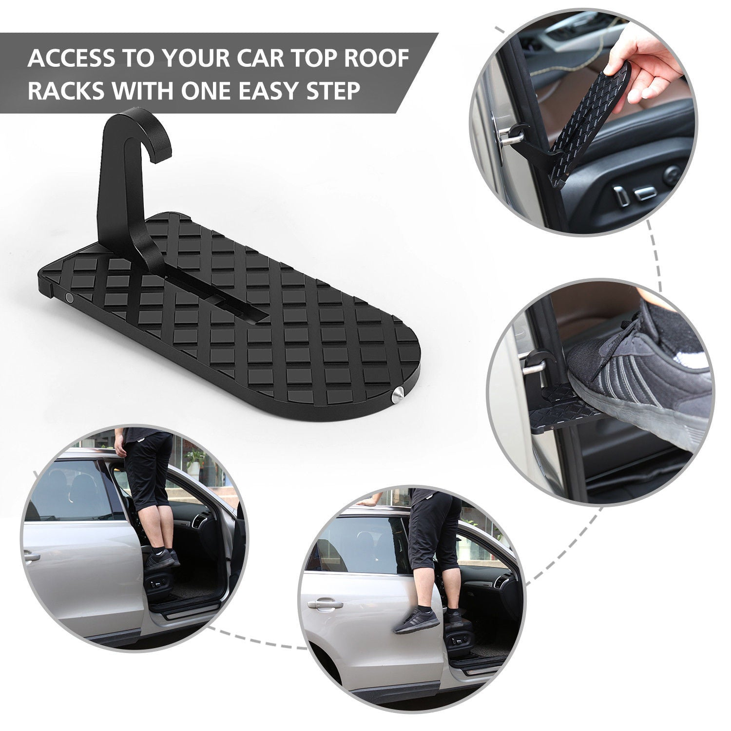 Rooftop Doorstep Vehicle Step Easily To Access Roof Of Car