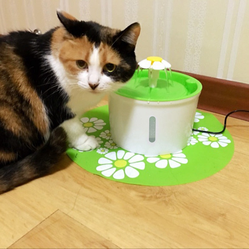 Cat Water Fountain Automatic Pet Drinking Circular Water Dispenser Dog