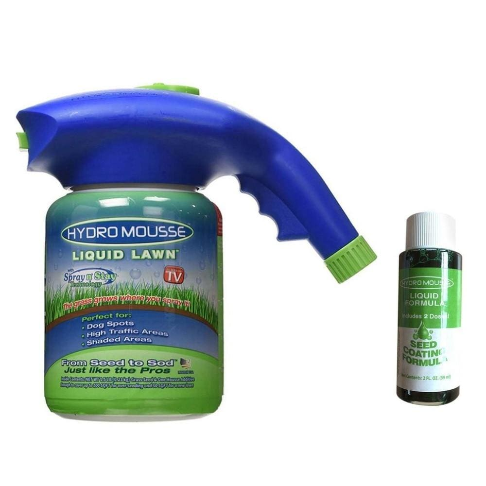 Hydro Mousse Liquid Lawn Seed Sprayer Kettle Seeder System - Sprayer+Liquid Lawn (1 Bottle)