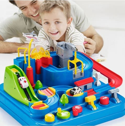 Slot Car Racing Track Kids Game Toy Best Interactive Gift for Holidays