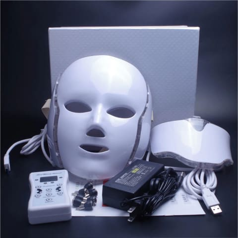LED Light Therapy Mask Face Neck Massage Acne Photon Therapy