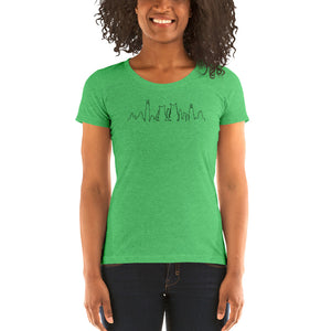 Chicago Black Cat Skyline | Ladies' T-Shirt