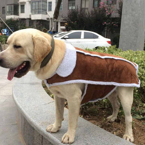 Large Dog Vest Luxury Buckskin Pet Clothes Coat for Big Dogs Labrador Winter Clothing For Golden Retriever Shepherd Pet Supplies
