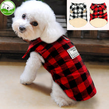 British Style Plaid Dog Windproof winter vest Dog Jacket Coat Apparel for Cold Weather Small/Medium Dogs