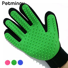 Petminru Pet Grooming Glove Dog Gentle Deshedding Brush Glove Pet Hair Remover Massage Tool Dogs Bath Pet cleaning Supplies