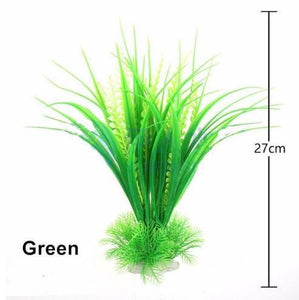 New Plastic Aquarium Artificial Plant Decoration Fish Tank Water Plant Grass Ornament Decor 11cm-27cm 12 Styles Optional