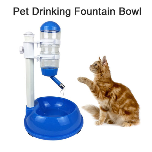 500ml Dog Food Bowl Automatic Water Dispenser Stand Feeder Bottle Plastic Food & Water