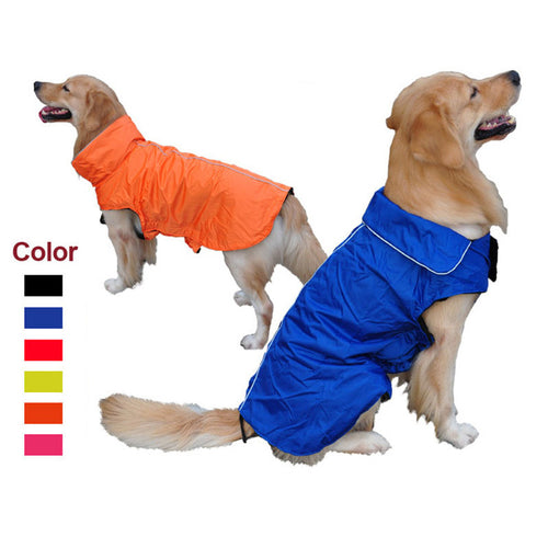 XS-3XL Solid Winter Dog Clothes Large Dog Coat Warm Puppy Outfit Clothing For Bulldog Labrador Pug Pet Apparel