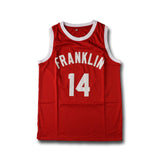 "Earl ""The Goat"" Manigault Franklin High Basketball Jersey Stitched - Red"