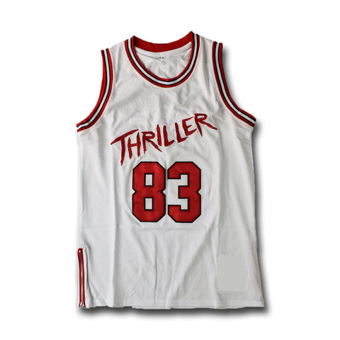 Michael Jackson #83  Thriller White Basketball Jersey