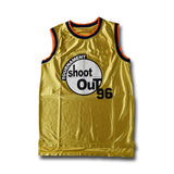 #96 Tournament Shoot Out  Gold Basketball Jersey