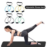 Fitness Booty Bands Set Resistance Bands for Butt Legs Muscle Training Adjust Waist Belt Elastic Bands