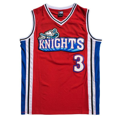 Calvin Cambridge Knights Like Mike Basketball Jersey Stitched - Red