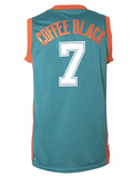 Coffee Black Flint Tropics Basketball Jersey Stitched - Green