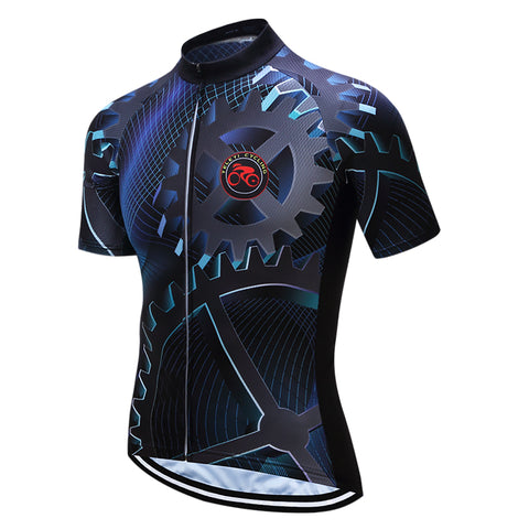 Bike Team Mens Racing Cycling Jersey Biking Short Sleeve