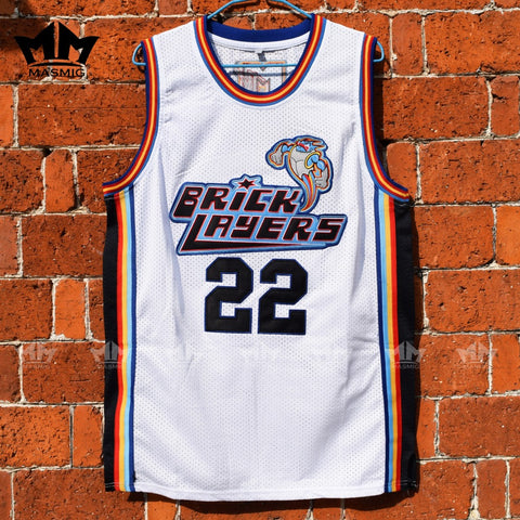 Andy Lawrence Bricklayers Basketball Jersey - White