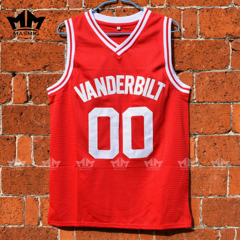 Steve Urkel Family Matters Vanderbilt High Muskrats Basketball Jersey - Red