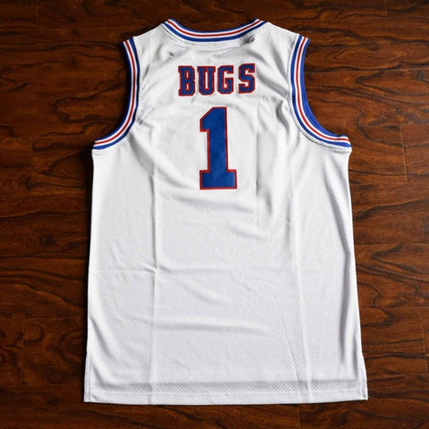 Bugs Bunny Space Jam Tune Squad Stitched Basketball Jersey - White