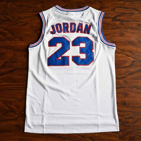 Jordan Space Jam Tune Squad Stitched Basketball Jersey - White