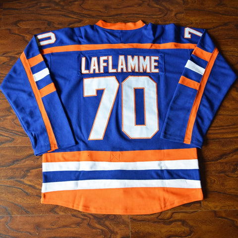 Xavier LaFlamme Halifax Highlanders Ice Hockey Jersey Stitched - Blue