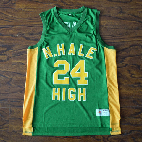 Bruno Mars N. Hale High Basketball Jersey Stitched - Green
