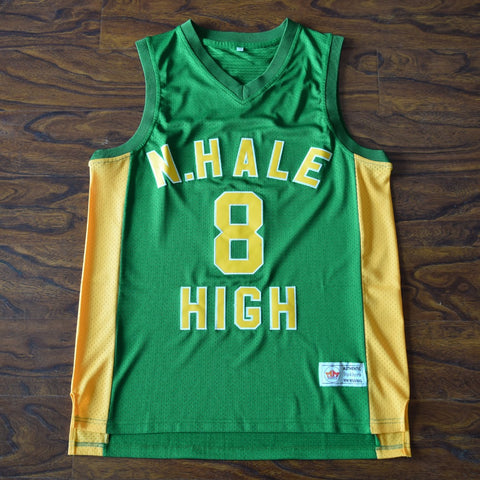 Wiz Khalifa N. Hale High Basketball Jersey Stitched - Green