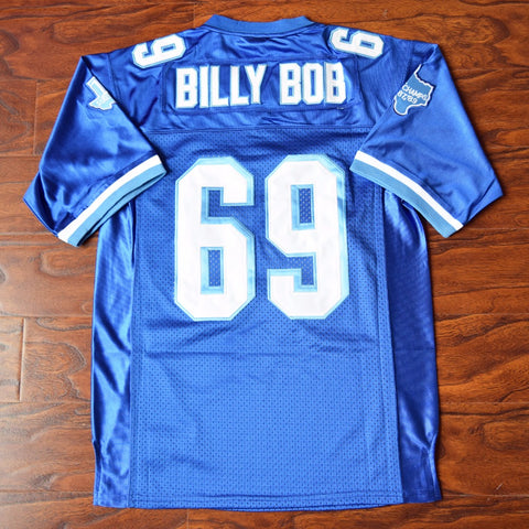 Billy Bob Varsity Blues Football Jersey Stitched - Blue