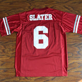 AC Slater Bayside High Saved By The Bell Football Jersey Stitched - Red