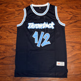 L.P. #1/2 THROWBACK Basketball Jersey Stitched - Black