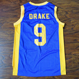 Drake Degrassi Basketball Jersey Stitched - Blue
